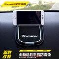 Suporte do telefone Para Hyundai Tucson 2015 2017 Carros Super Pegajosa Pad Anti-Slip Mat Para GPS Do Telefone Do Carro Preto 1 pcs Acessórios Do Carro Vara