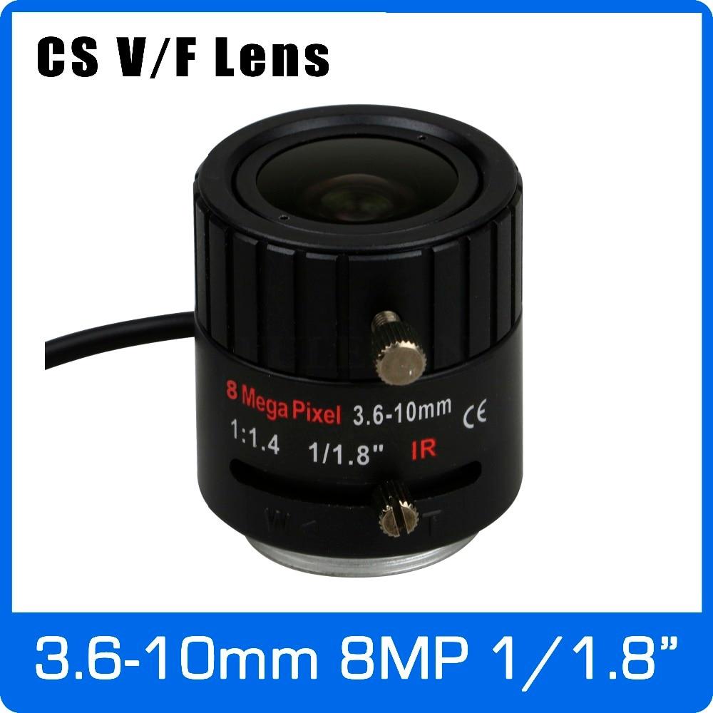 8 mégapixels DC AUTO IRIS À Focale Variable CCTV 4 k Objectif 1/1. 8 pouce 3.6-10mm CS Mont Pour SONY IMX178/IMX185 Boîte Caméra IP Caméra