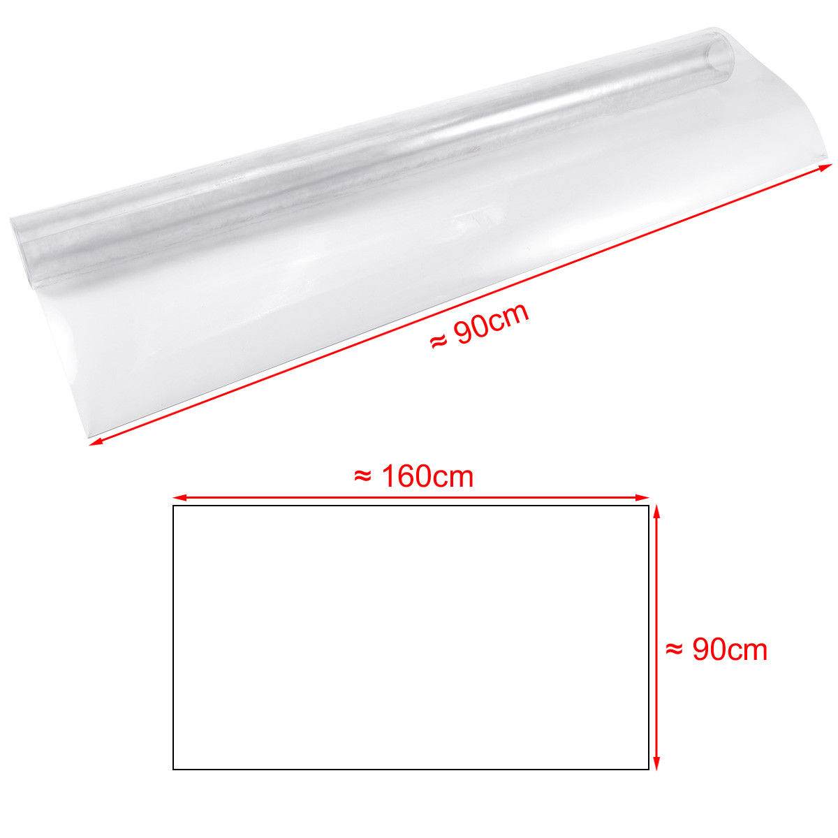 1mm 90*160cm Pvc transparent soft glass crystal plate plastic customized PVC tablecloths tablecloth table mat table cover