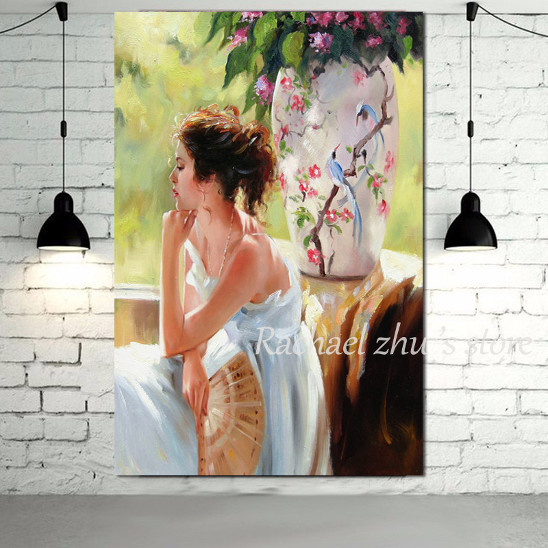 hand painted abstract beautiful lady pictures oil paintings on canvas sexy woman wall pictures wall art