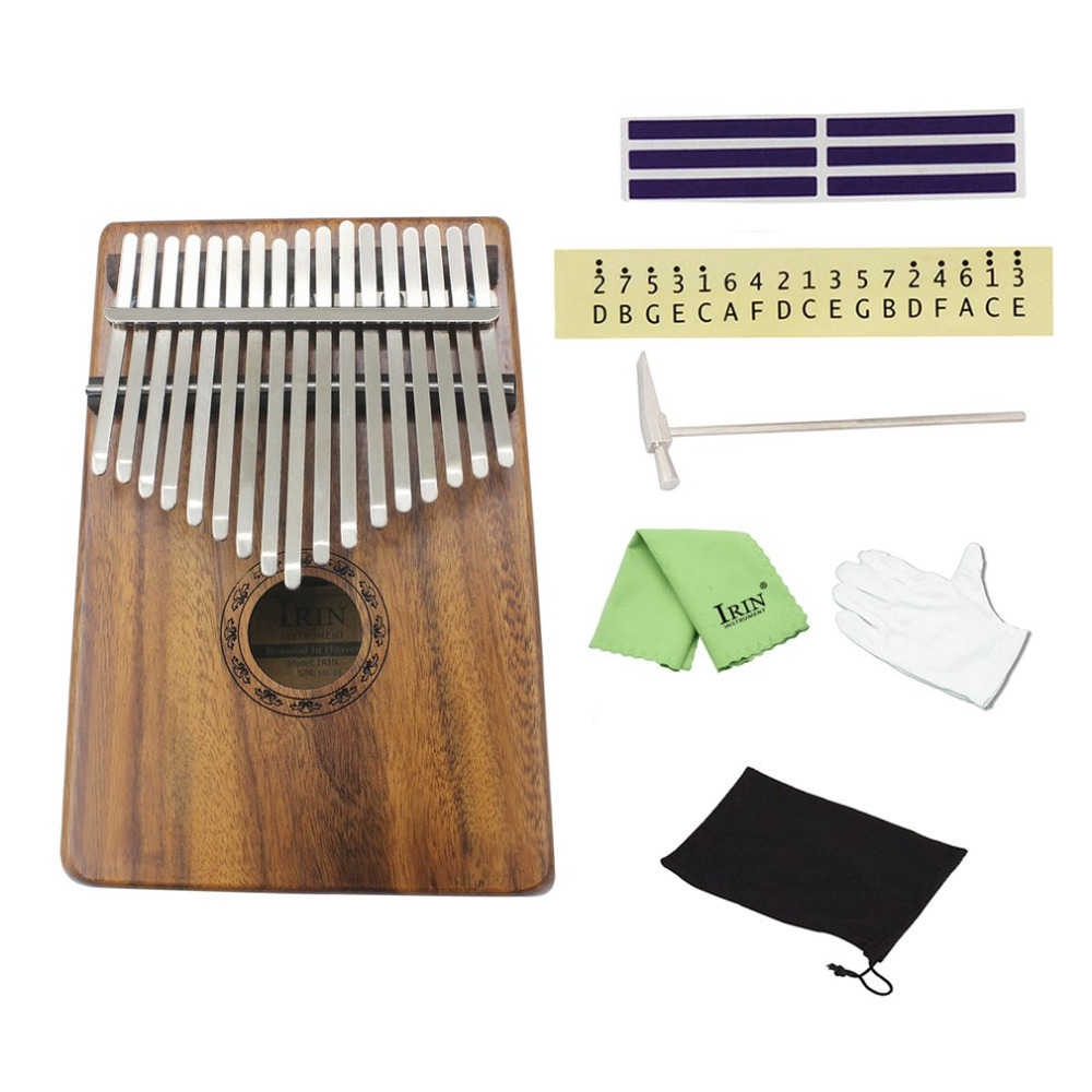 Natural 17 Keys Finger Thumb Pocket Piano Kalimba Mbira Thumb Piano Education Toy Musical Instrument Great Gift tri fidget hand spinner triangle metal finger focus toy adhd autism kids adult toys finger spinner toys gags