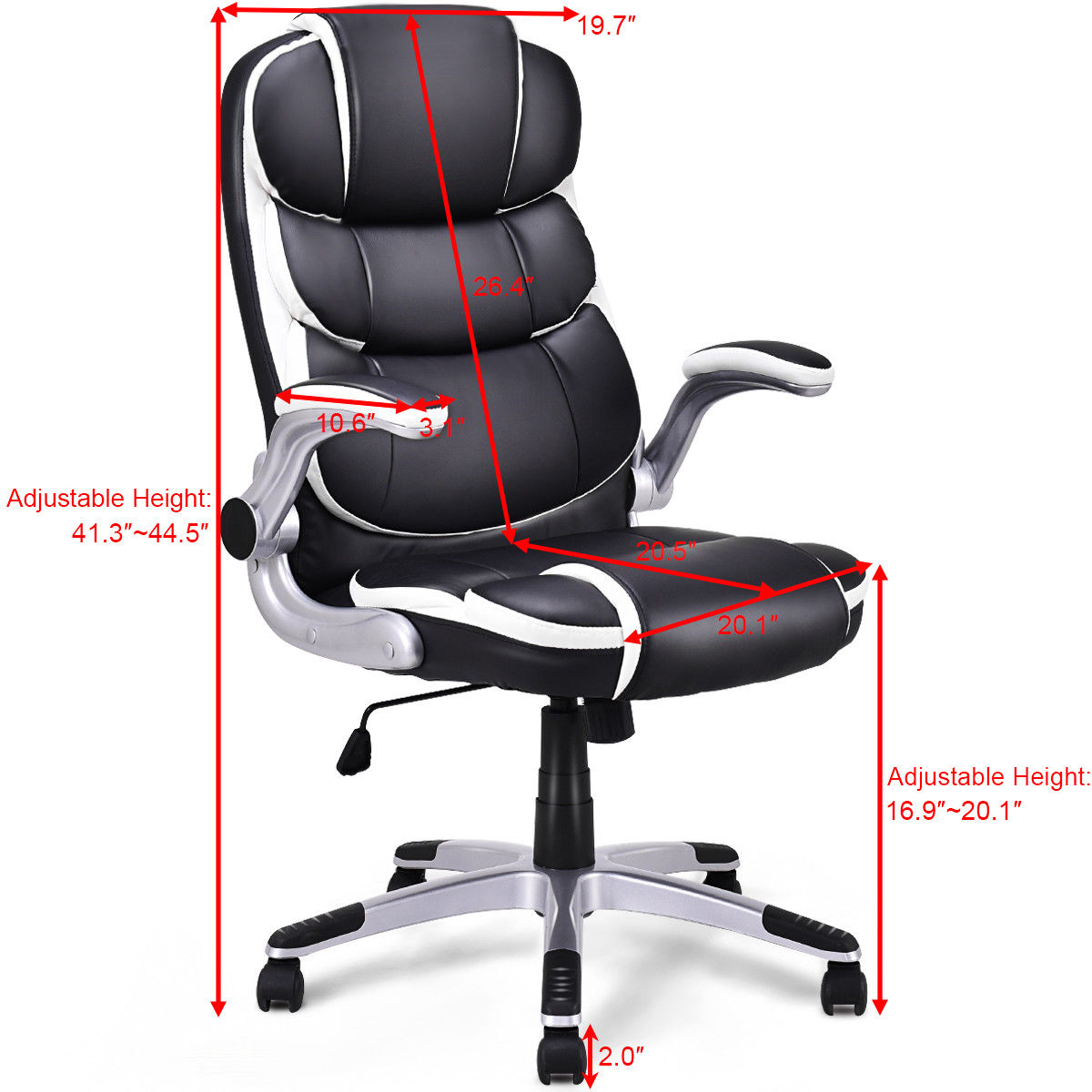 Pleasing Us 94 99 Giantex Pu Leather High Back Executive Office Chair Modern Swivel Desk Task Computer Gaming Chairs Ergonomic Furniture Hw56602 On Inzonedesignstudio Interior Chair Design Inzonedesignstudiocom