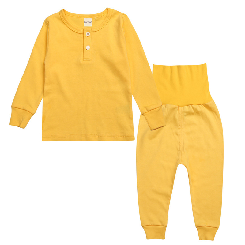 Baby Girl Clothing Set Newborn Baby Outfits Boy Girl Cotton Solid T-shirt + Pants 2pcs Suit Sleeping wear