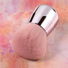 BBL Pro Pink Face / Body / Cheek Kabuki Makeup Powder Foundation Brush Soft & Fluffy Portable Make Up Brush for Blending Setting