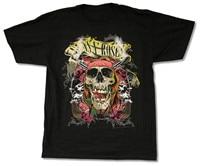 Top O Neck Short Sleeve Guns N Roses Trashy Skull 2013 Tour Black T Shirt New