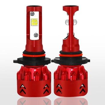 2 X HB4/9006 Mini7 LED Headlight Bulb 30W 4800LM 9V-36V IP68 Waterproof 6000K Cold White 6063 Aluminum for Car SUV TRUCK HID RV