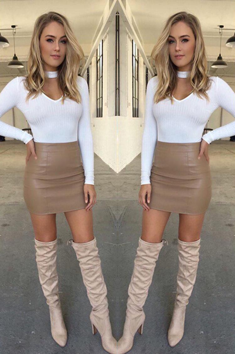 HTB1JJg6OFXXXXchaFXXq6xXFXXXy - Women Sexy Leather Short Mini Skirt PTC 133