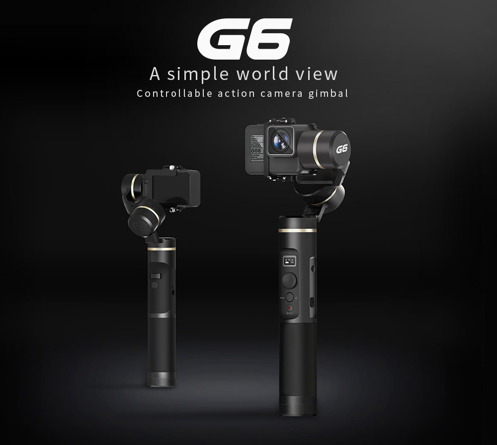 Feiyu G6 Waterproof Handheld Gimbal Action Camera Wifi + Blue Tooth OLED Screen Elevation Angle for Gopro Hero 6 5 Sony RX0 Cam цена 2017