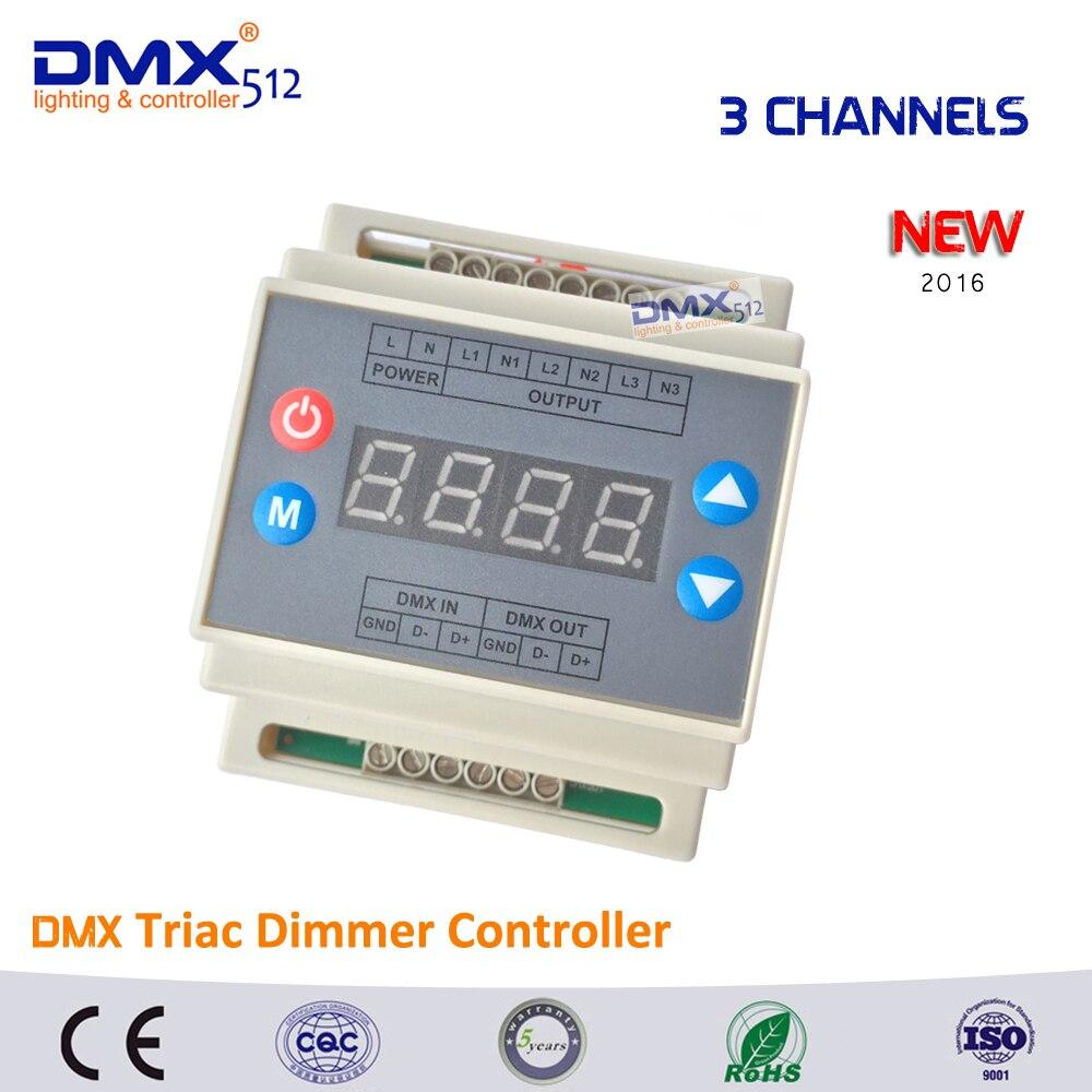 ФОТО Dmx Triac Dimmer Controller Led Brightness 3 Channels 3*110w/110V, 3*220w/220V Output high voltage 3CH 1A/CH for led panel light