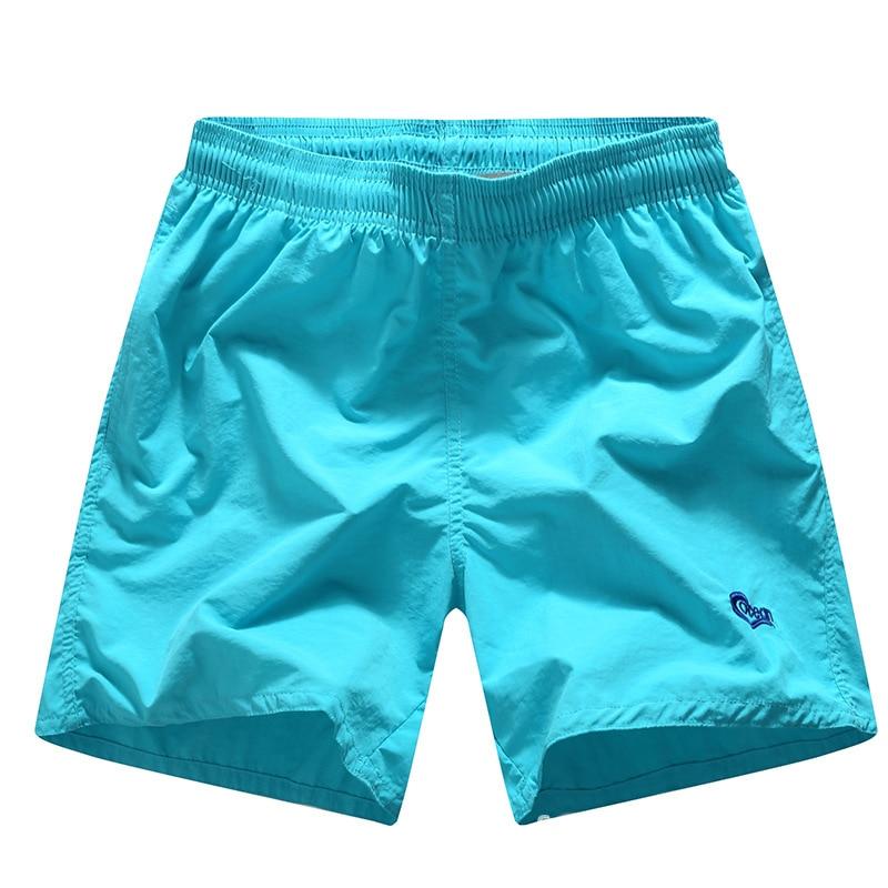 Tailor Pal Love men Summer Beach Shorts Solid Quick Dry Heren Shorts - Herenkleding