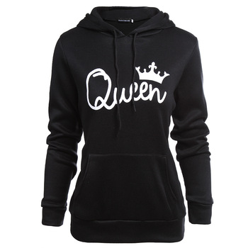 hoodie oversized sweatshirt king queen womens clothing harajuku fashion streetwear woman hoodies pullover plus size floral