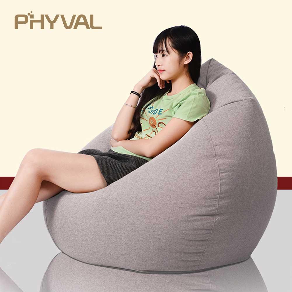 Pouf canapé paresseux sofasofa lit chaise longue canapé paresseux chaise haricot sac lit Tatami décontracté siège chaise salon meubles 60 cm