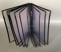 1 10 Sheet Panel Transparent Menu Holder With Plastic Pockets