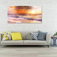 Large Posters Giclee Print Sunset Beach Seascape Pictures for Bathroom Office Room Home Decor Modern Artwork Decor Drop Shipping