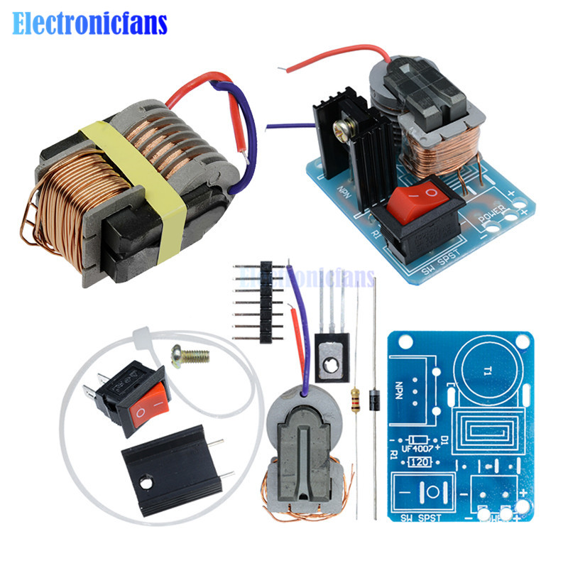 15KV High Frequency Transformer DC High Voltage Arc Ignition Generator Inverter Boost Coil Module Step Up Power Module DIY Kit