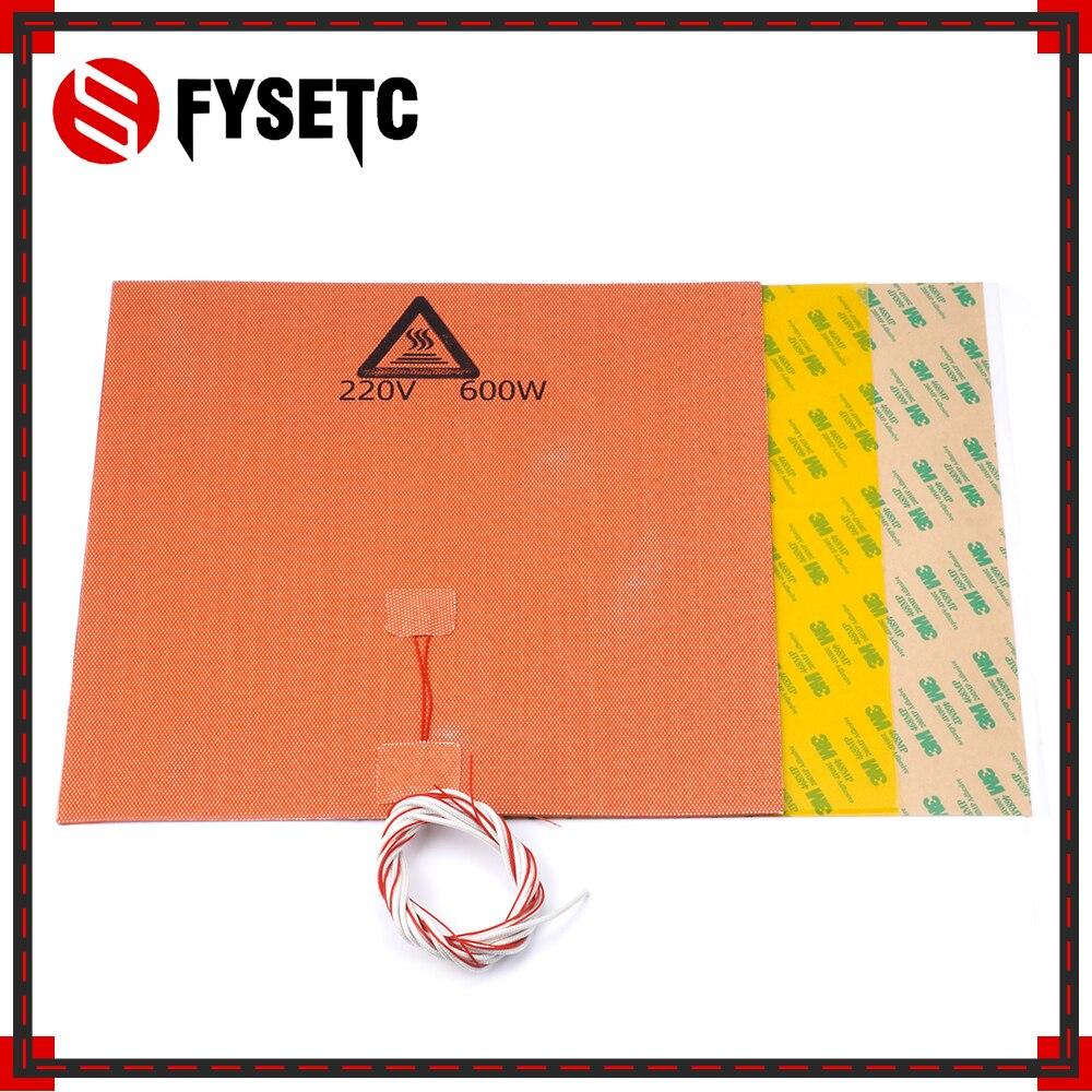 300*300*0.3mm Givré Jaune Construire Surface Polyetherimid PEI + 300X300mm 220 v 600 w Silicone Chauffe Pad Pour TEVO Tornade 3D Imprimante