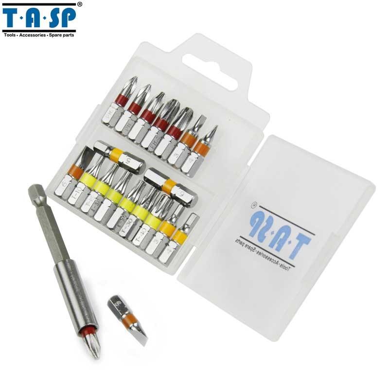 Zestaw końcówek wkrętakowych TASP 20 sztuk z kolorową końcówką - Narzędzia ręczne - Zdjęcie 6