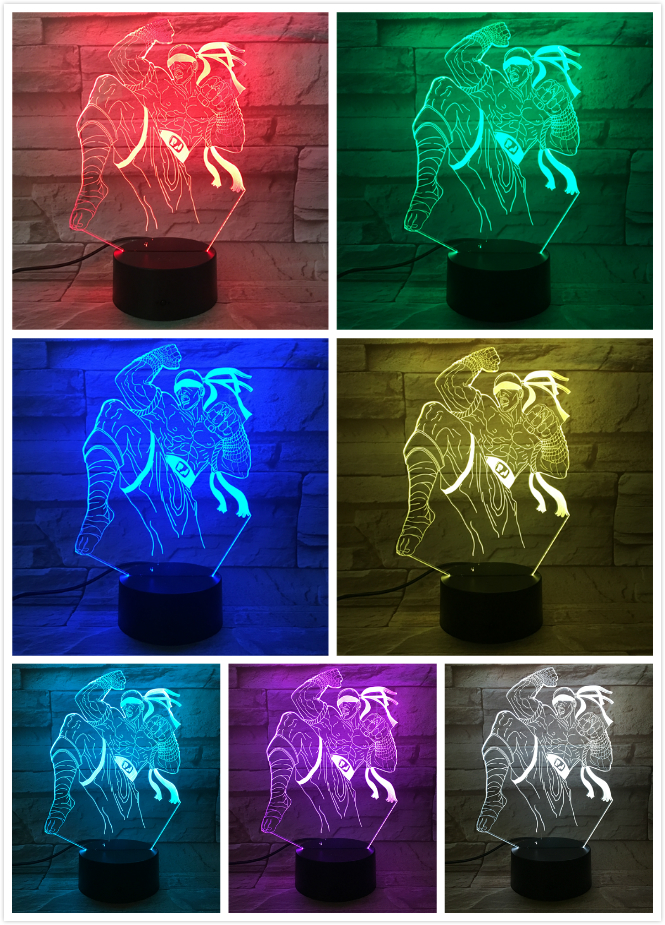 League of Legends LoL Heros LED Night Light Touch Sensor 7 Color Changing Nightlight the Blind Monk Lee Sin Table Lamp Bedroom in LED Night Lights from Lights Lighting
