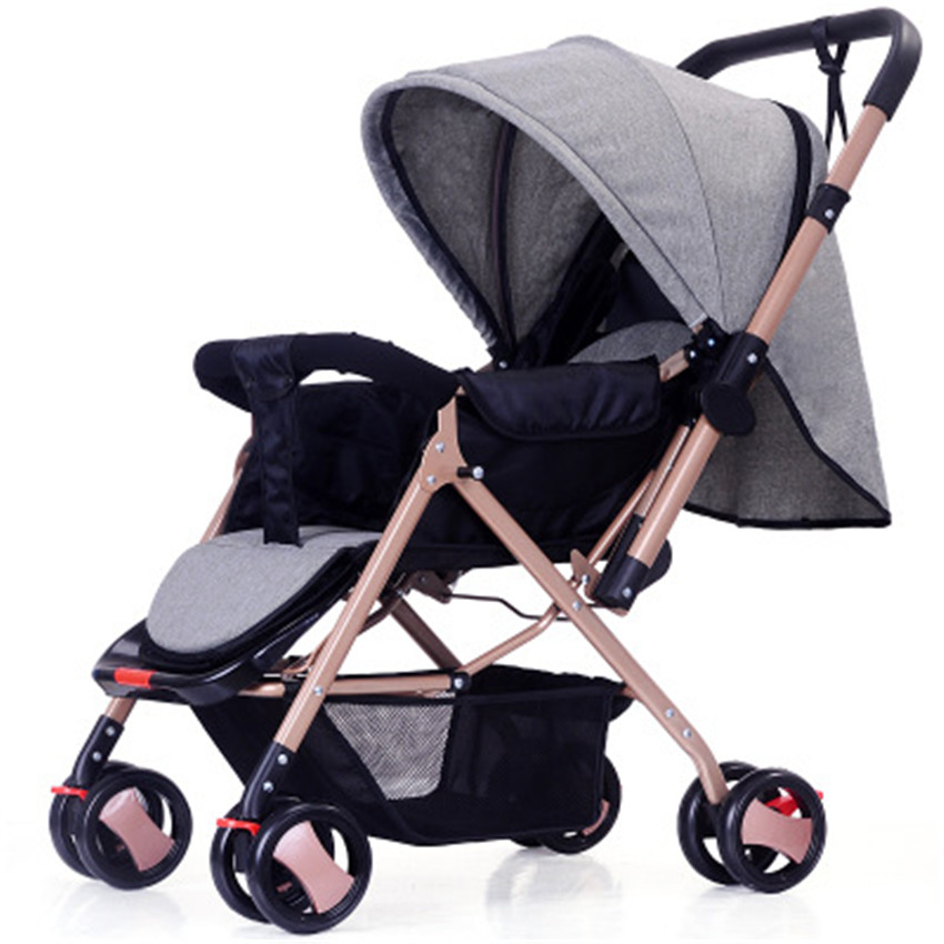 Large Adjustable Canopy Baby Stroller Sitting and Lying Newborn Carriage Portable Two Way Push Pram Foldable 5 Point Harness  sc 1 st  AliExpress.com & Large Adjustable Canopy Baby Stroller Sitting and Lying Newborn ...