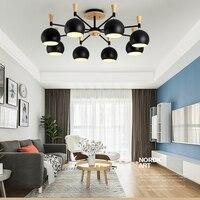 led 27 Nordic Wood Iron Apples LED Lamp.LED Light.Ceiling Lights.LED Ceiling Light.Ceiling Lamp For Foyer Bedroom Dinning Room