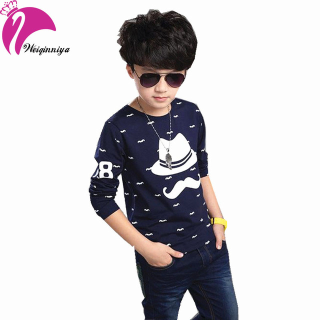 638ae3bf New Brand Style 2017 Spring Fashion Boy T-Shirts Long Sleeve Boys Causal  Pattern Cotton Shirts Kids Brand Tops Tees Clothes Hot