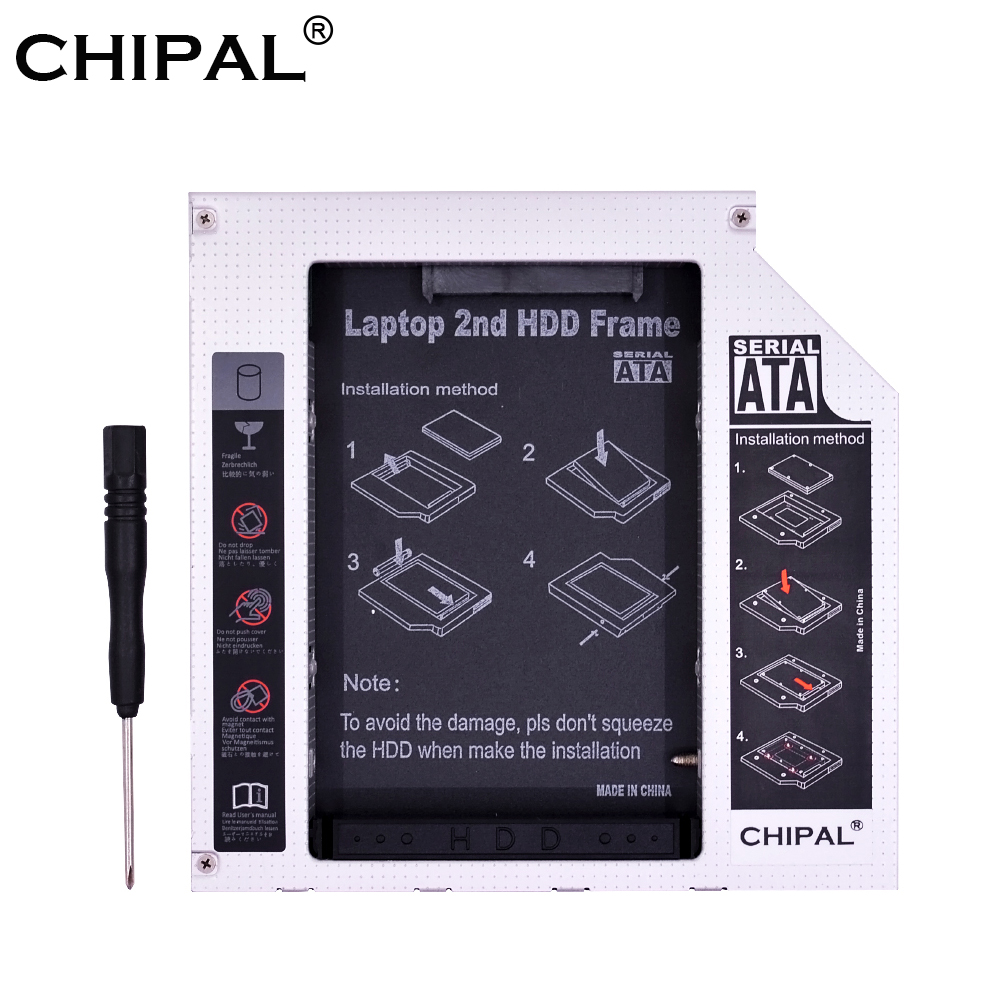 HDD Case Enclosure SSD Laptop Caddy 12.7mm Ide-To-Sata Sata-3.0 Cd/dvd-Rom Aluminum PATA