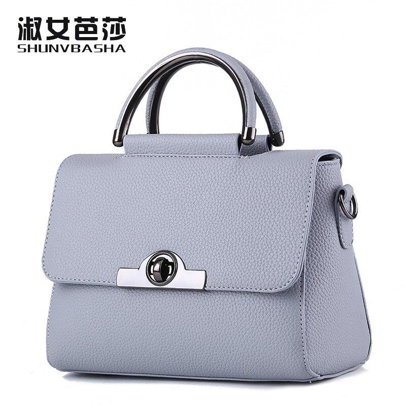 SNBS 100% Genuine leather Women handbags 2017 New Commuter Bag Fashion Handbag C