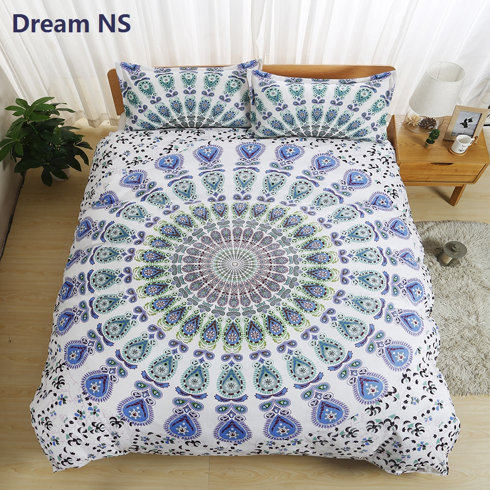 DreamNS Bohemia Bedding Set Classic Mandala Bedlinen USA Double Single Bed Set for Adults Children 1pc Duvet Cover + Pillowcase