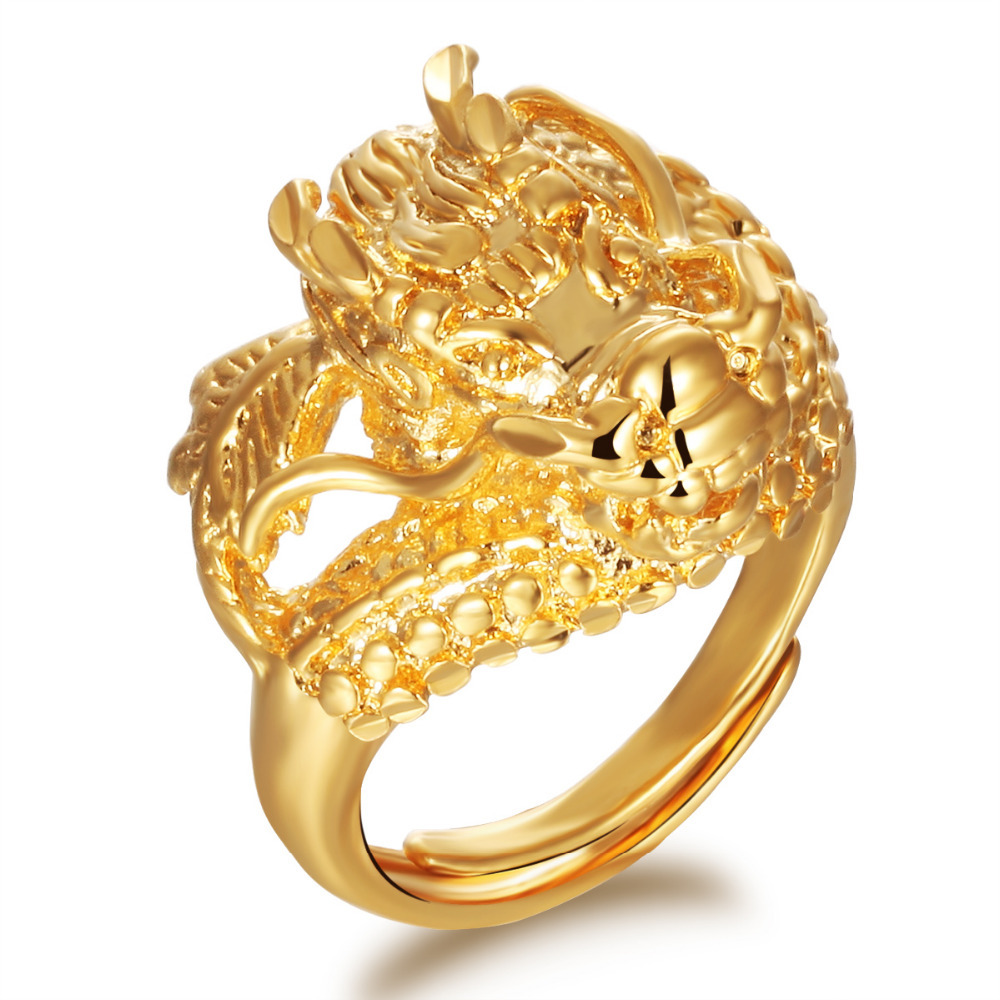 new gold bands punk animal ring dragon mens tengyi item yellow rngs in rings band classic color designs from plated man wedding size adjustable jewelry