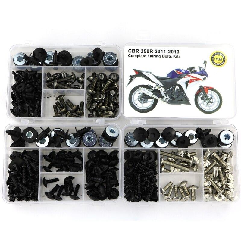 For Honda CBR 250R CBR250R 2011 2012 2013 Body Screws Motorcycle Full Fairing Bolts Kit Clips Nuts  Steel
