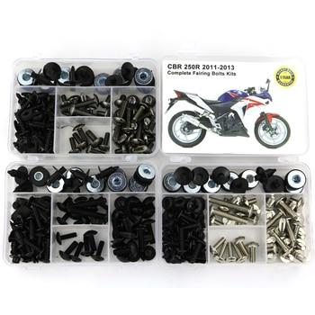 цена на For Honda CBR 250R CBR250R 2011 2012 2013 Body Screws Motorcycle Full Fairing Bolts Kit Clips Nuts  Steel