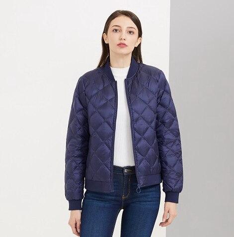 High quality misun 2019 autumn and winter medium-long PU patchwork thin down coat female shirt fashion  spring women's jackets