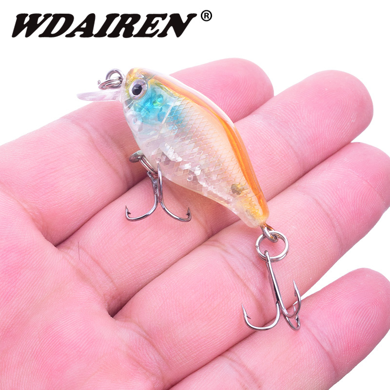 1Pcs Minnow Fishing Lure 45mm 4.3g Crankbait Topwater Artificial Hard Bait Wobblers Bass carp lures Fishing Accessories tackle 56pcs lot mixed fishing lures bass baits crankbaits fish hooks tackle xg 2017 new fishing lure minnow