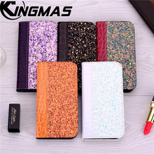 Shiny crocodile skin case for millet redmi 4X 5 6 plus Pro NOTE 4 5 6 X A Pro phone case with magnetic bracket card holder flip