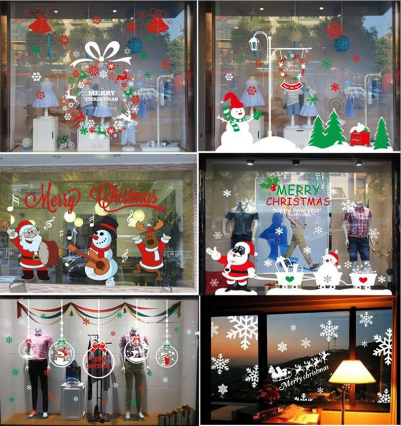 Store christmas decorations reviews online shopping for Christmas home window decorations