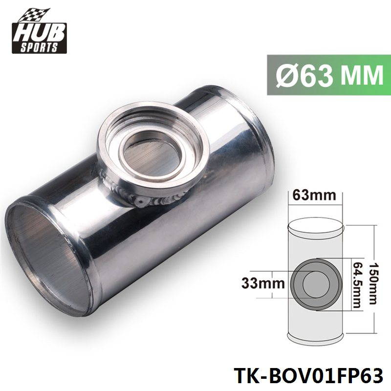 Silver 2.5 inches Turbo Blow Off SSQV BOV Style Adapter Flange Adapter Pipe