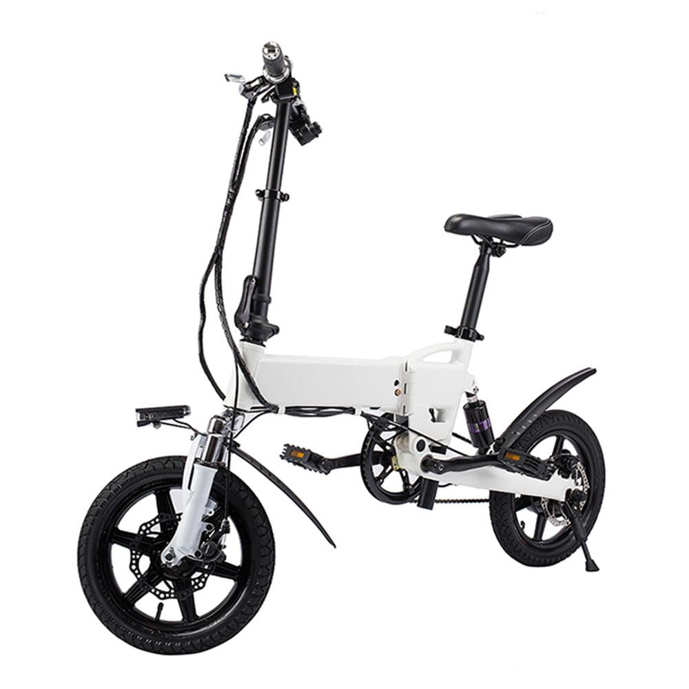 Trasporto Libero Intelligente Bici Bicicletta Elettrica Pieghevole Ciclomotore Bicicletta 250 w 5.2Ah Batteria/Spina di UE/con Doppio Disco freni