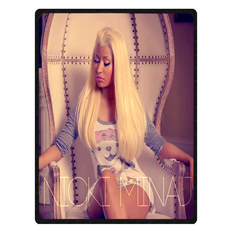 Nicki Minaj Soft Warm Coral Fleece Plush Throw Blanket Sofa Bed Knee blankets Customize Baby Child Bedspread