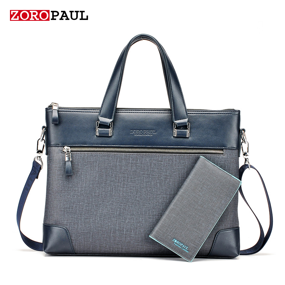ZOROPAUL 2017 NEW Men s PU leather Briefcase Fashion font b Handbags b font for Man