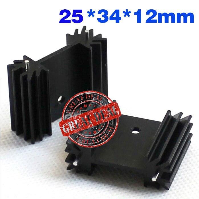 Free Ship With Tracking 100pc High Quality Aluminum Mos Heatsink 25*34*12MM IC Heatsink Transistor Radiator