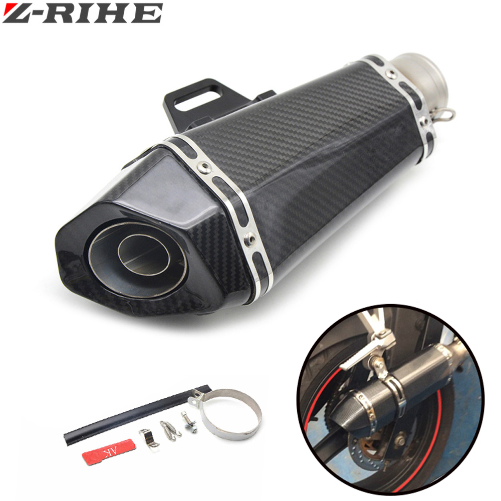 Universal Motorcycle Scooter exhaust Modified Exhaust Muffler pipe For YAMAHA YZF R1 R6 FZ1 FZ6 Fazer XJ6 YBR 125 250 mt07 mt09 universal modified motorcycle exhaust pipe muffler scooters for yamaha ybr ttr wr 125 yzf600 mt 09 yzf r125 r3 r6 r1 mt07 xmax