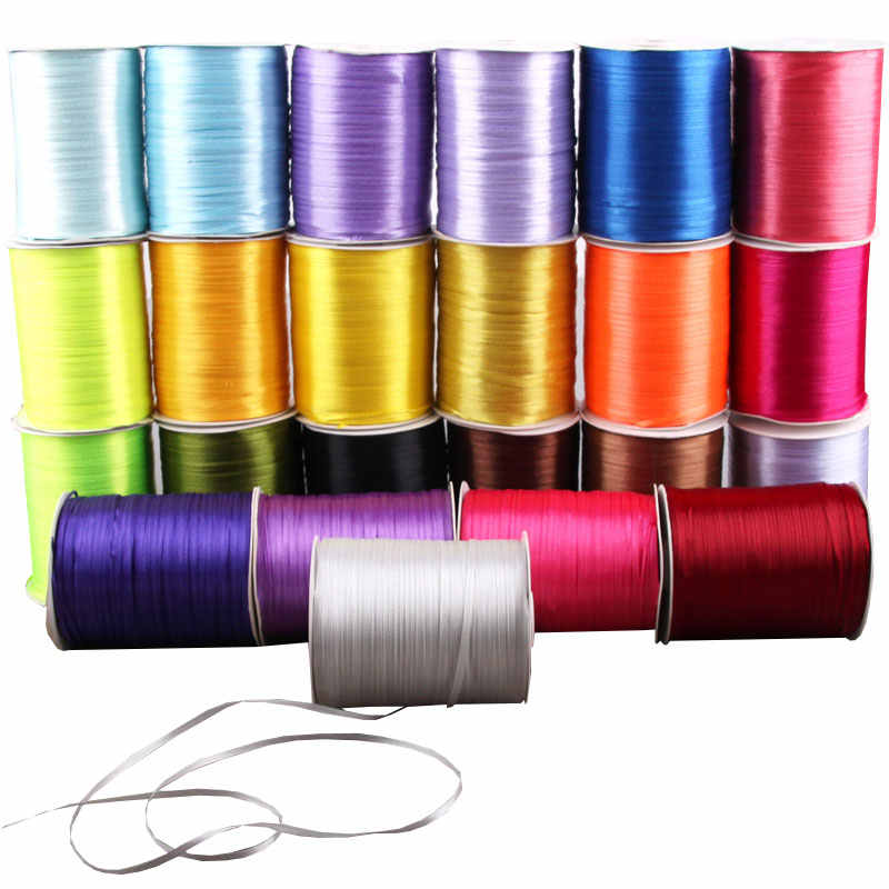 22Meters/Lot 3mm Satin Ribbons for Wedding Birthday Party Candy Chocolate Box Gift Wrapping Ribbons Christmas Halloween Decor