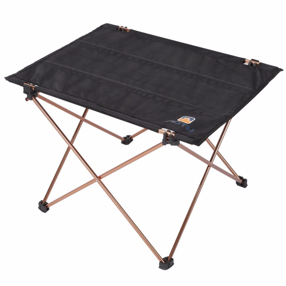 aotu outdoor picnic folding camping table foldable table desk lightweight aluminium alloy bracket oxford fabric hot sales