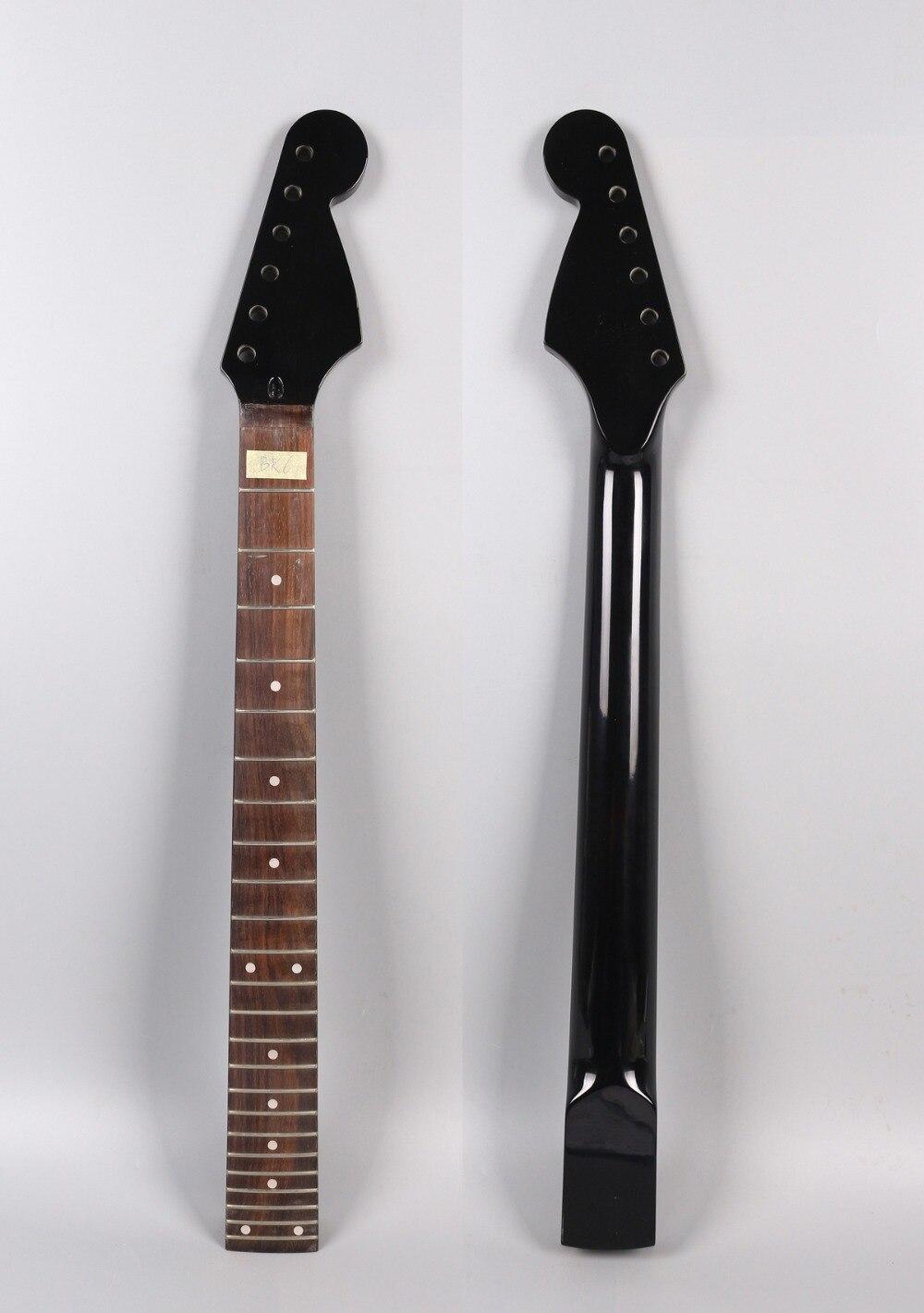 Yinfente guitare électrique cou 24 Fret 25.5 pouces palissandre écrou de verrouillage ST guitare électrique remplacement # bk6