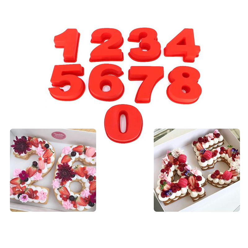 Detail Feedback Questions About 6inch 0 9 Numbers Shaped Silicone Cake Mold DIY Wedding Birthday Fondant Chocolate Mould Bake Decorating Tools Baking