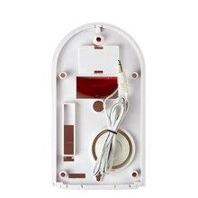 New Wired External Flash LED strobe Light siren sensor Alarm Work With GSM PSTN SMS Home Security Voice Burglar Smart Alarm