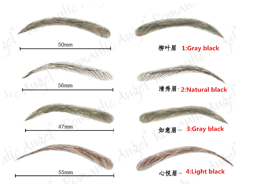 Bionic Eyebrow Stereo Posted False Eyebrows Hair Simulation One