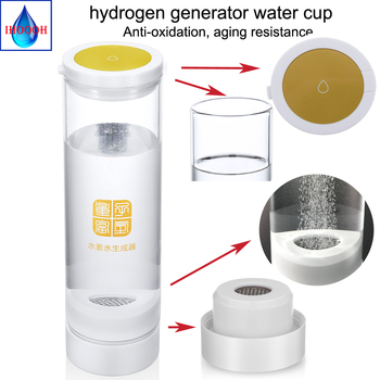 Healthy Hydrogen-Rich Water Generator USB Rechargeable 500ML Titanium Electrolysis Pure H2 Ionizer Glass Cup/Bottle Anti-Aging hydrogen rich generator 500ml electrolysis water bottle alkaline drink pure h2 ionizer anti aging product rechargeable glass cup