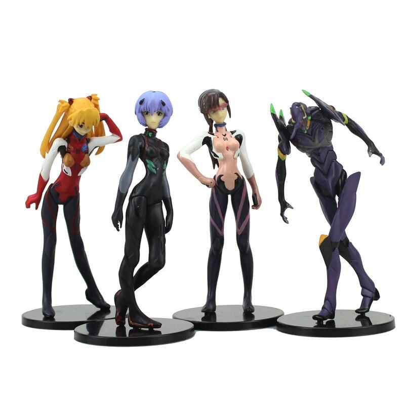 Японский аниме EVA неон евангелион комплект пвх действие рисунок коллекция модель игрушка ( 4 шт за комплект )