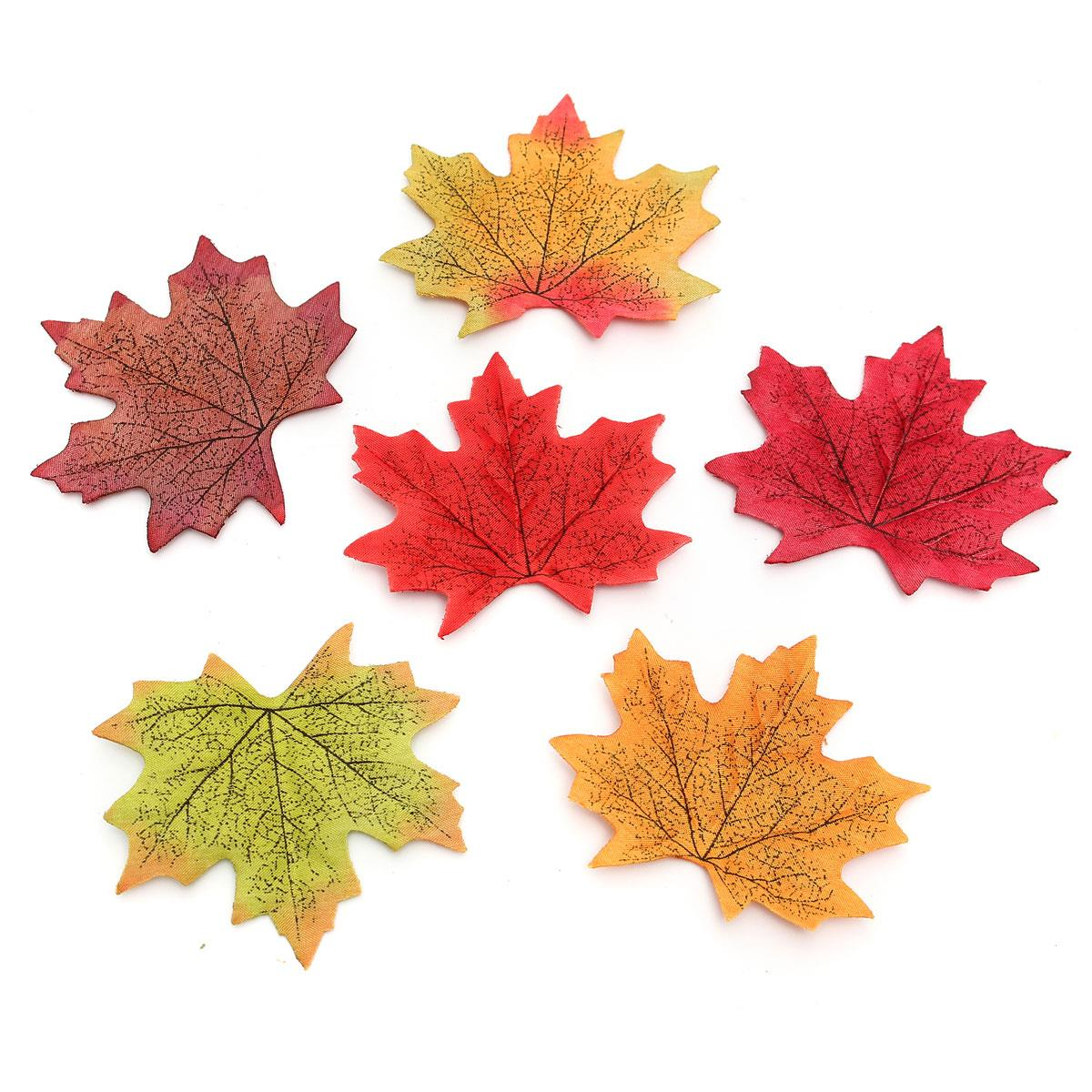 Cheapest 50pcs set artificial autumn fall maples leaves for Artificial leaves for decoration